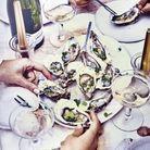 Menu de fête chic : Huîtres, gingembre, combava et coriandre