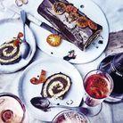 Menu de fête traditionnel : Bûche roulée au chocolat et fève tonka