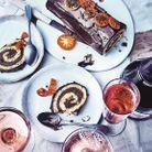 Menu traditionnel : Bûche roulée au chocolat et fève tonka