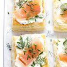 Feuilletés de saumon fumé et cream cheese