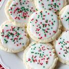 Cookies glacés rouge et vert