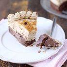 Gâteau praliné et mousse chocolat spéculoos
