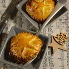 Feuilletés de Noël : Chausson au foie gras et confit d'oignon
