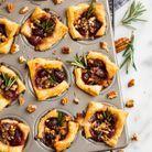 Muffins feuilletés canneberge brie