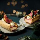Ecorces au bloc de foie gras de canard et à la figue