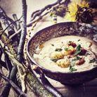 Repas de Noël sans gluten : Velouté de châtaigne aux saint-jacques