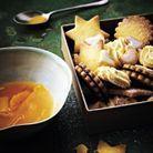 Bouillon de clémentine, biscuits de Noël