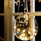 Boule de Noël en verre lumineuse