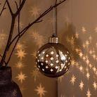 Boule de Noël lumineuse en verre