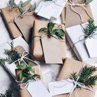 Bricolage de Noël : des emballages cadeaux au style végétal