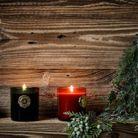 Décoration de Noël pour le jardin : des bougies cosy