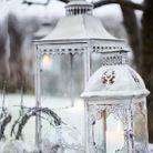 Décoration de Noël pour le jardin : des lanternes exotiques