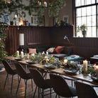 Une décoration de table de Noël végétale