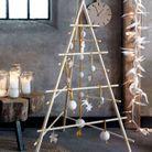 Un sapin de Noël en bois façon tipi