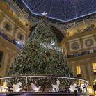 Le sapin de Noël de la Galerie Vittorio Emanuele à Milan