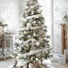 Sapin de Noel thème blanc