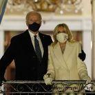 Le couple présidentiel sur le balcon de la Maison Blanche