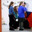 Les enfants du musée des sciences de Birmingham étaient très heureux de partager ce moment avec la duchesse