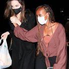 Angelina Jolie et sa fille Zahara au concert de Ziggy Marley le 1er août