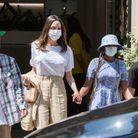 Angelina Jolie, entourée de Zahara, Pax et Knox