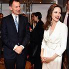 Angelina Jolie et Jeremy Hunt, secrétaire d'État des Affaires étrangères