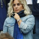 Erika Choperena en tribunes pendant France-Uruguay