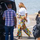 Beyoncé prend l'hélicoptère dans les Hamptons pour se rendre au restaurant à New York