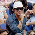 Brad Pitt lors de la finale de l'US Open