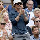 Brad Pitt n'a pas manqué d'encourager les joueurs lors de la finale de l'US Open