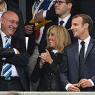 Brigitte et Emmanuel Macron ont plaisanté avec Bernard Laporte