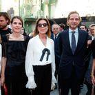 Carole Bouquet, Charlotte Casiraghi, Caroline de Monaco, Andrea Casiraghi et Brigitte Macron