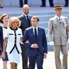 Comme à son habitude, Brigitte Macron portait une tenue signée Louis Vuitton
