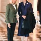 Brigitte Macron et l'épouse du Premier ministre thaïlandais Naraphon Chan-ocha