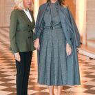Brigitte Macron et Melania Trump