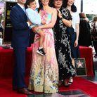 Lucy Liu et sa famille, son frère, son fils et sa mère