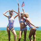 En maillot avec ses amies Gigi Hadid et Taylor Swift