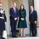 Le prince William et Kate Middleton, François Hollande (2017)