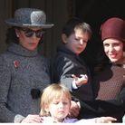 Charlotte Casiraghi au balcon avec son fils Raphaël et sa maman Caroline de Monaco