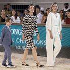 La famille princière au Jumping International de Monte-Carlo
