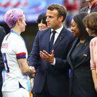 Megan Rapinoe et Emmanuel Macron