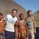 Leonardo DiCaprio et Gisele Bündchen dans la forêt amazonienne en 2004