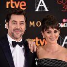 Javier Bardem et sa femme Penelope Cruz à la 30ème cérémonie des Goya Awards, le 6 février 2016