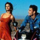 """Penélope Cruz et Javier Bardem sur le tournage du film """"Jambon,Jambon"""" en 1992"""