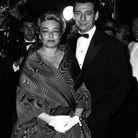 Simone Signoret et Yves Montand lors du Festival de Cannes, en 1959