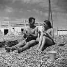 Yves Montand et Simone Signoret sur le tournage du film « Le salaire de la Peur », en 1953