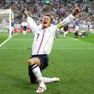 David Beckham… Sur le terrain