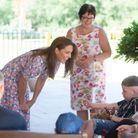 Kate Middleton s'adresse à Sonny Saunders, patient de l'hôpital