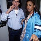 Aaliyah et Andy Hilfiger dans les backstage du défilé automne (2000)