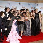 """Le casting de """"Glee"""" lors de la 68e cérémonie des Golden Globes"""