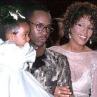 Whitney Houston avec son mari et sa fille